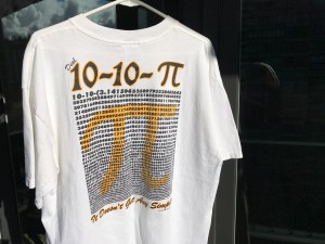 Hand-silk-screened Pi T-shirt
