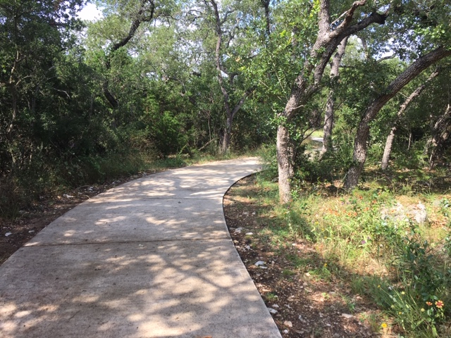 Panther Springs Park has a very wide and easy trail.
