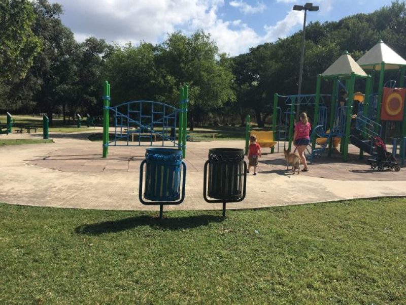 McAllister Park has many amenities such as this playground and exercise area.