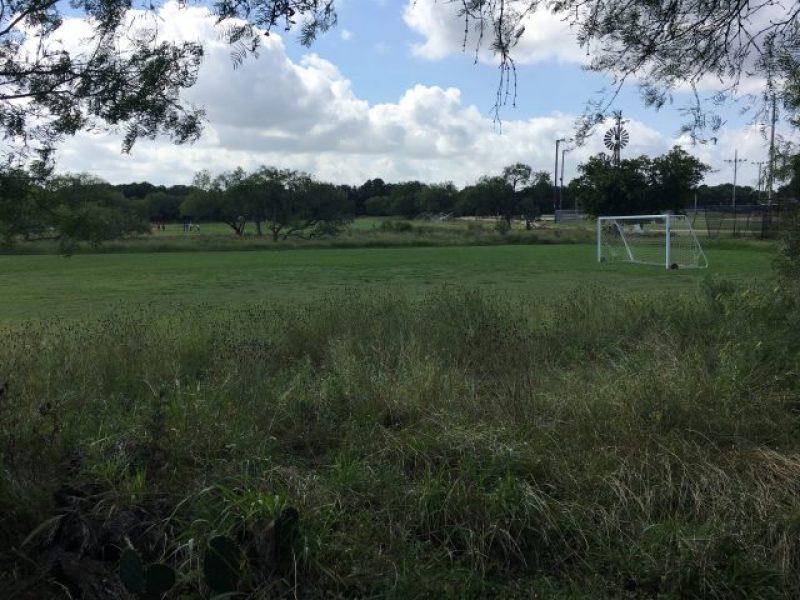 Soccer fields at dog friendly San Antonio park, McAllister Park.