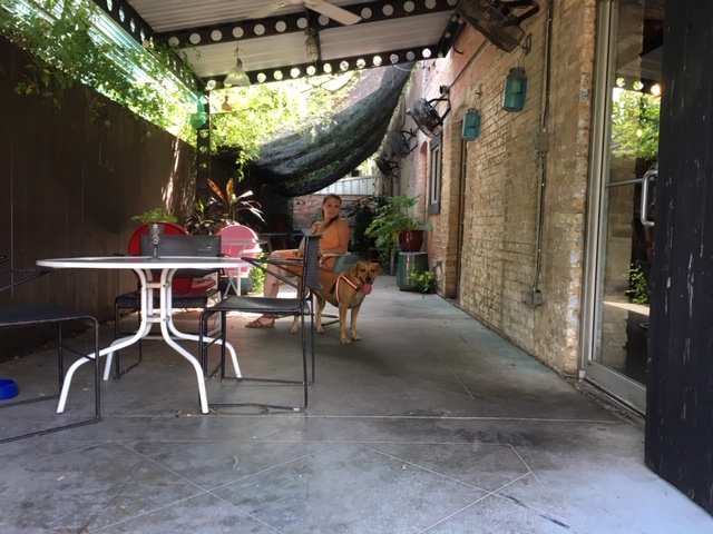 The dog friendly patio outside 5 Points Local, a gluten free restaurant.