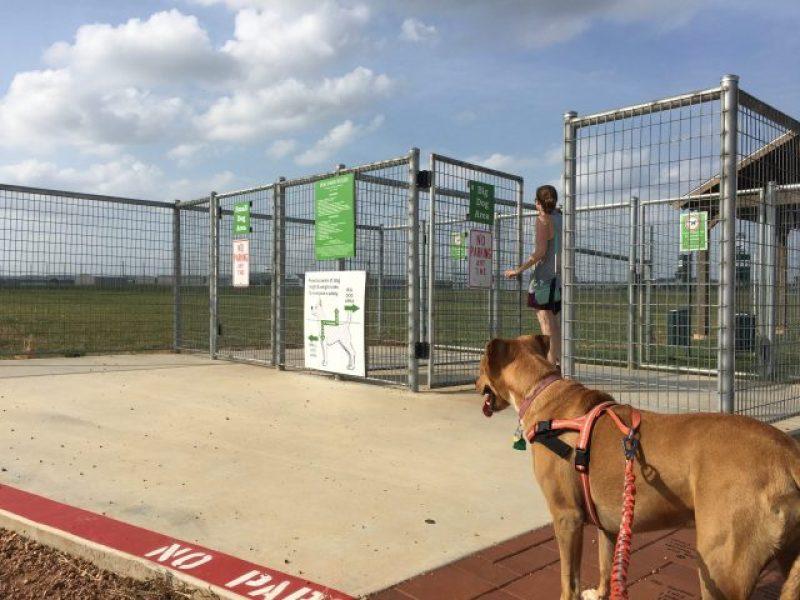 Fredericksburg Dog Park gated entrance