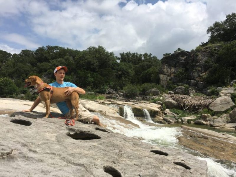 Abby and I at Pedernales Falls State Park