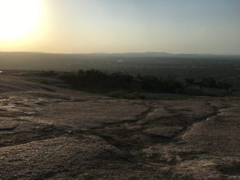 The top of Enchanted Rock
