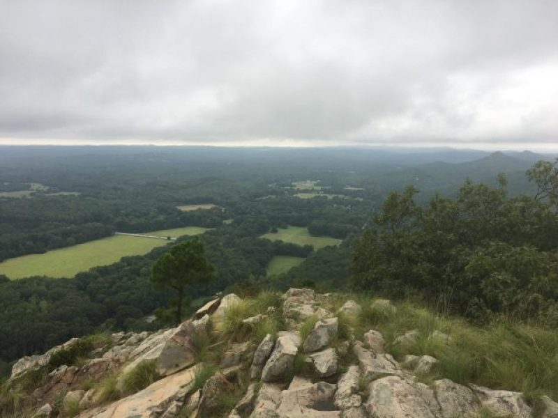 A slightly wet and very overcast day at Pinnacle Mountain State Park.