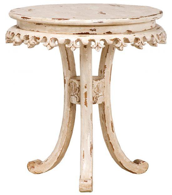 fleur-de-lis-side-table