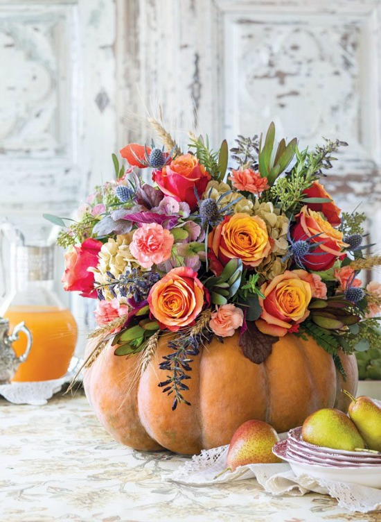 fresh-flowers-in-pumpkin