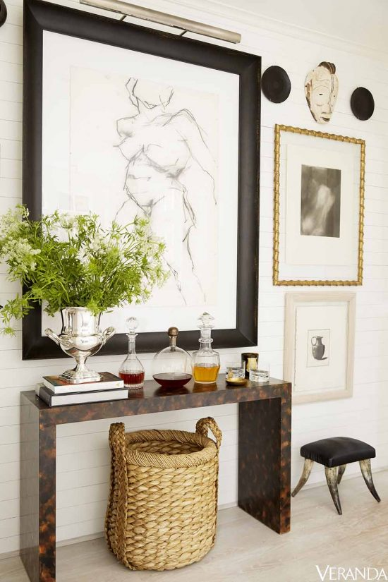 antiques mixed modern foyer