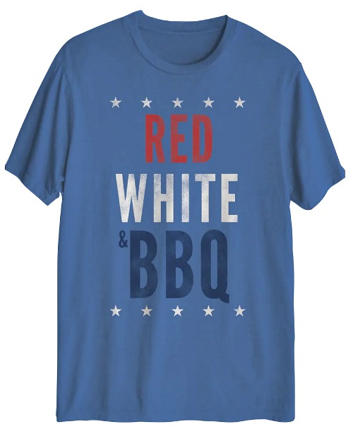 red white bbq shirt