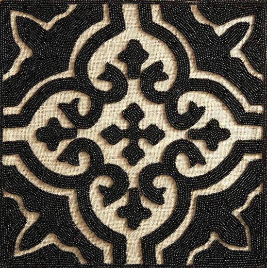 black-burlap-beaded-placemat