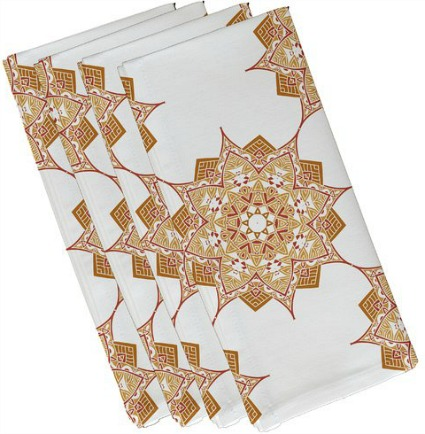 geometric print napkin