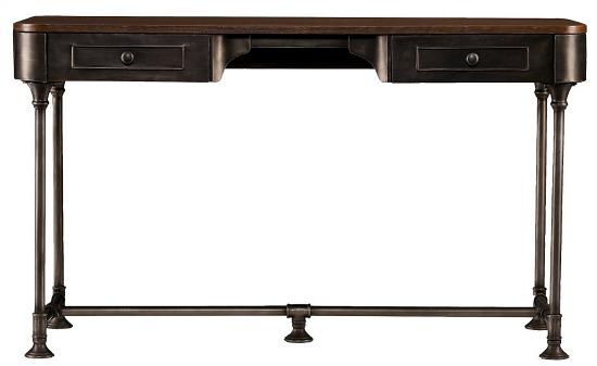 Southern Enterprises Elmore 2 Drawer Wood/Metal Writing Desk