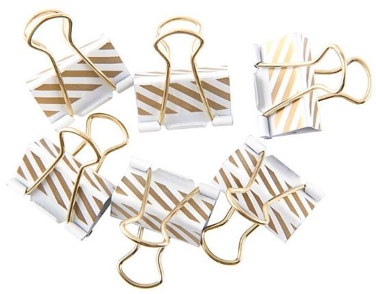 gold-white-binder-clips