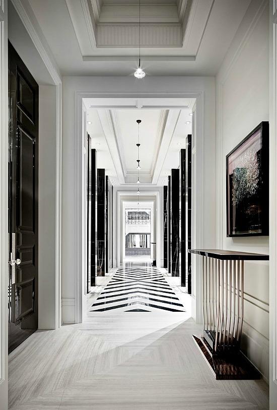 black-white-foyer