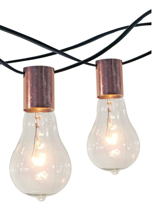 copper patio string lights