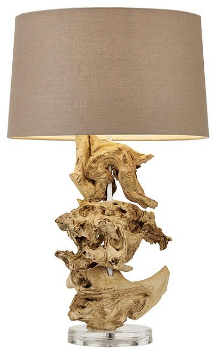 Bleached Teak Root Lamp