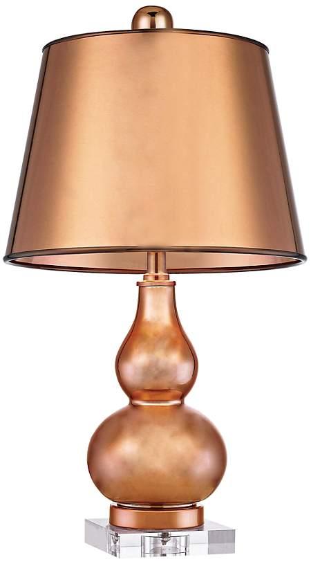 copper-gourd-lamp-lucite-base