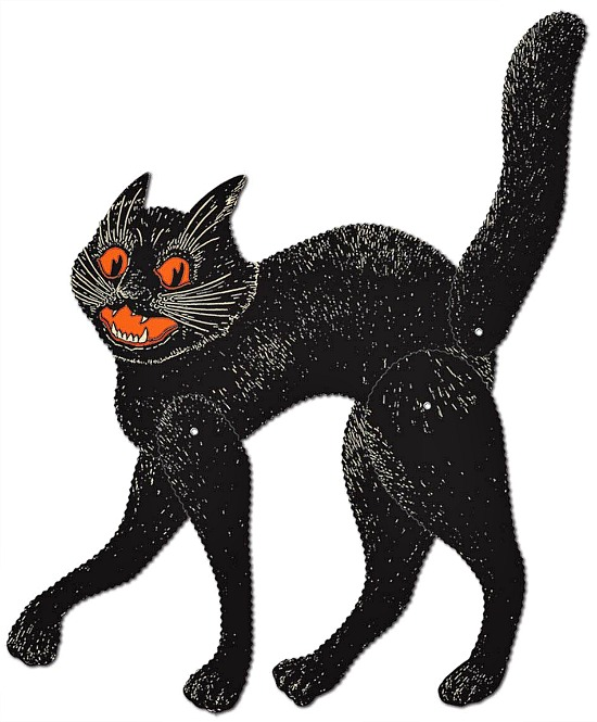 vintage-cat Halloween-decoration