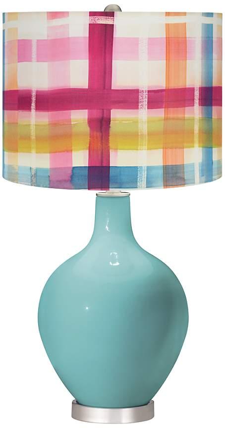 plaid lamp shade