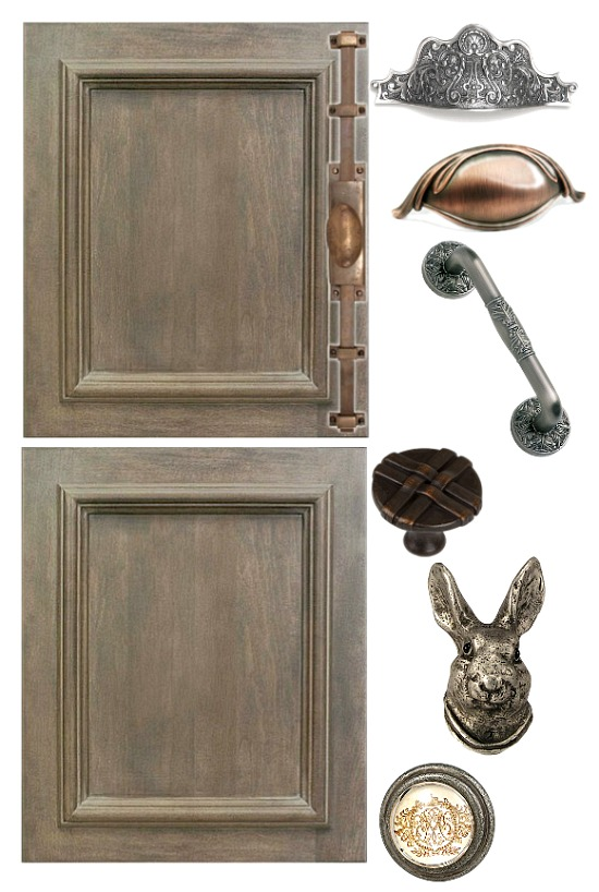 French style cabinet hardware
