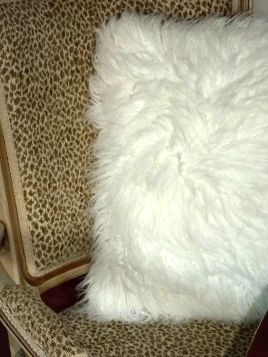 white-fur-throw-pillow