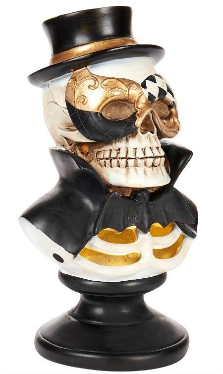"""11.25"""" LED Resin Masquerade Skull"""