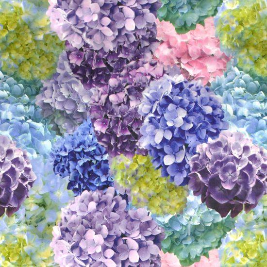 hydrangea pattern outdoor fabric