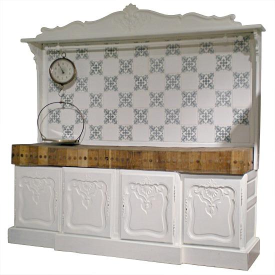 French-white-blue-kitchen-cabinet
