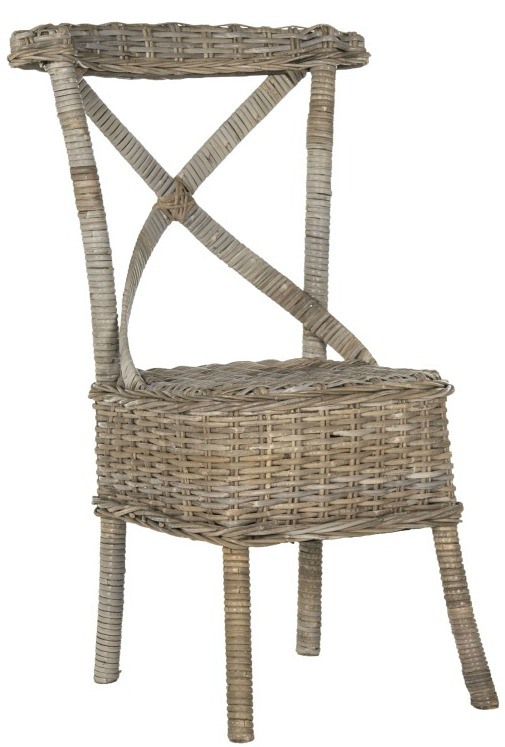Safavieh Rural Woven Dining Katell Grey Rattan Side Chairs