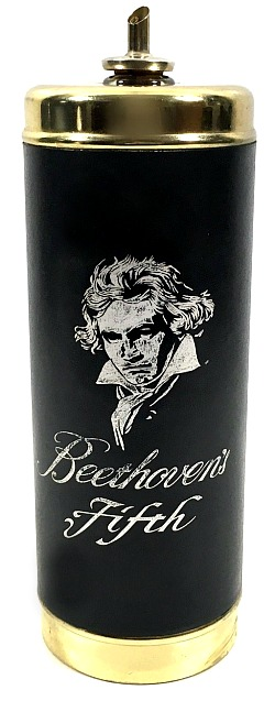 Beethoven's Fifth Whiskey Decanter with Pour Spout, Vintage Liquor Bottle Man Cave Bar Decor