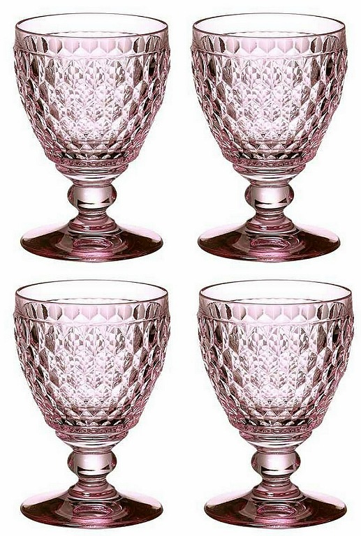 Villeroy & Boch Boston Rose Claret, Set of 4