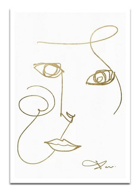 'Face I' Drawing Print