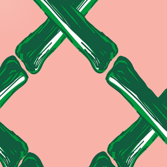 Bamboo-lattice-fabric-peach