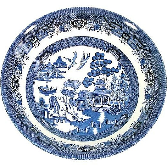 Churchill Blue Willow Round Vegetable Serving Bowl