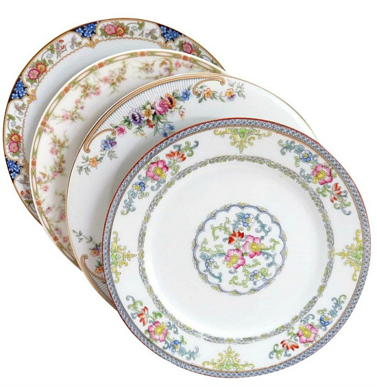 mismatched-fine-china-luncheon-plates