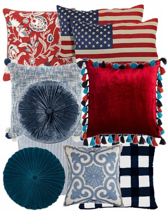red-white-blue-pillows