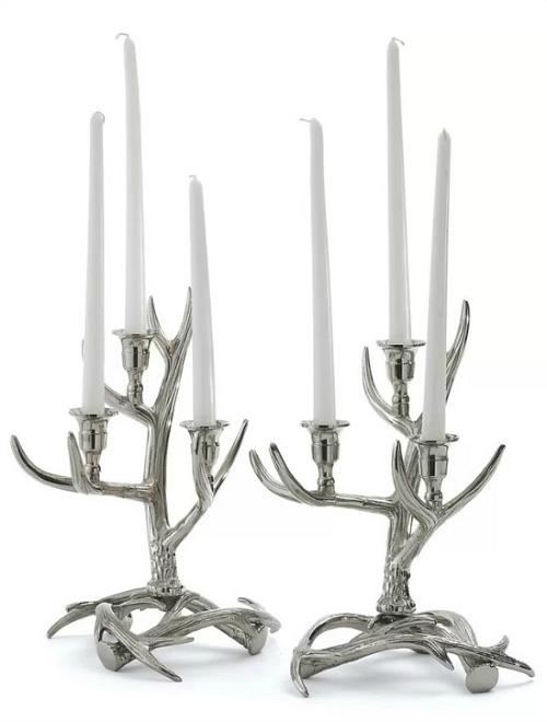 Tangled Antler Metal Candelabra
