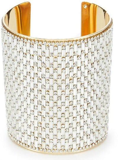 Natasha Accessories Beaded Cuff Bracelet