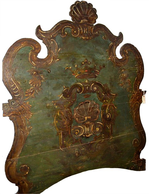 Italian 18th Century Painted Head Board