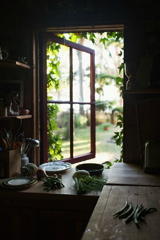 open kitchen window panes