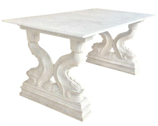 19th Italian Center Table in Carrara Marble