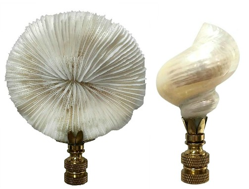 coastal lamp finials