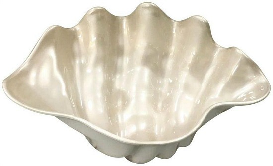 Coastal Home Embossed Shells Clam Shell Bowl
