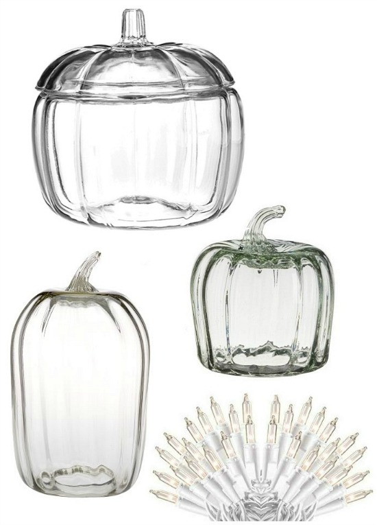 clear pumpkin cloche jar