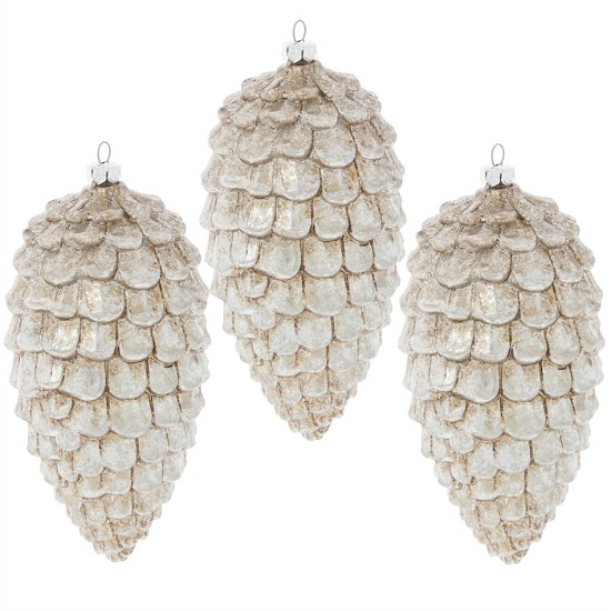silver-pinecone-ornaments