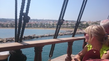 Leaving Rethymno Harbour onboard the Barbarossa