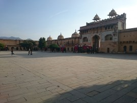 Inside the Amber Fort entrance courtyard