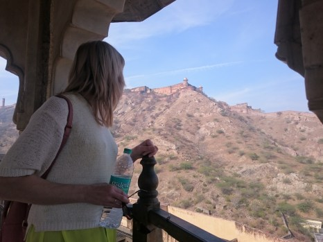 The Jaigarh Fort, high up above the Amber Fort