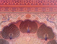 Peacock detail above a doorway, Chandra Mahal, Ciity Palace Museum