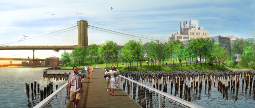 Building Brooklyn Bridge Park